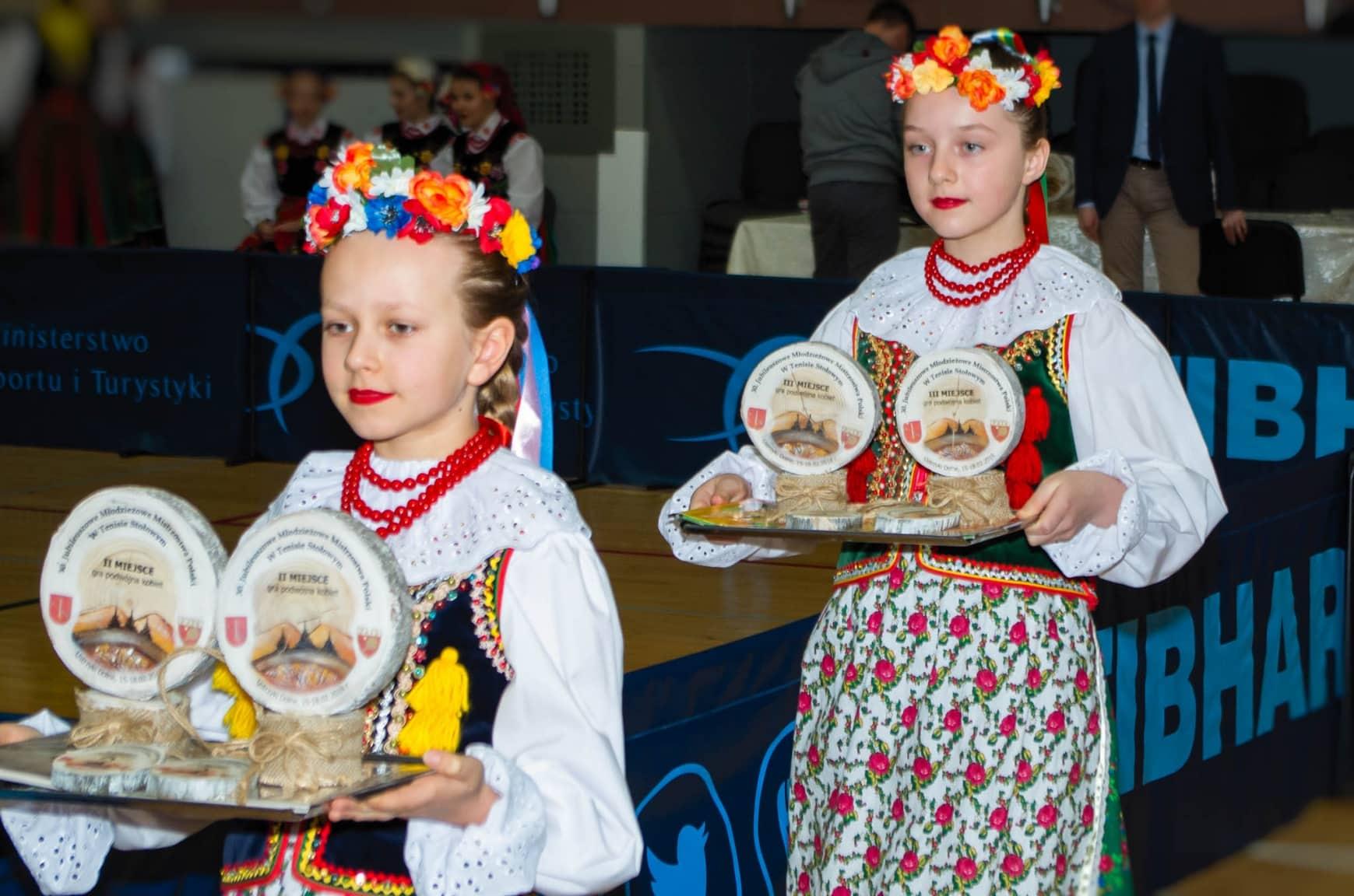 Finał 30. Młodzieżowych Mistrzostw Polski w tenisie stołowym - ceremonia wręczenia medali i zamknięcia Mistrzostw.